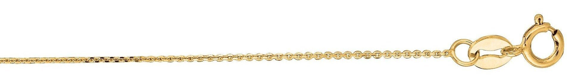 "16"" 10K Yellow Gold 0.8mm (0.03"") Polished Diamond Cut Cable Chain w/ Lobster Clasp"