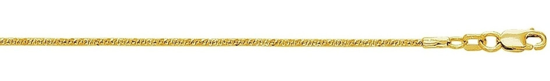 "10"" 10K Yellow Gold 1.5mm (0.06"") Polished Diamond Cut Sparkle Chain w/ Lobster Clasp"