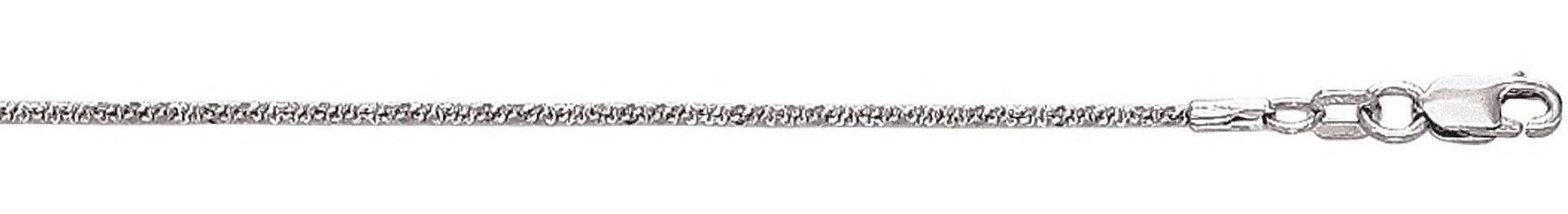 "16"" 10K White Gold 1.5mm (0.06"") Polished Diamond Cut Sparkle Chain w/ Lobster Clasp"