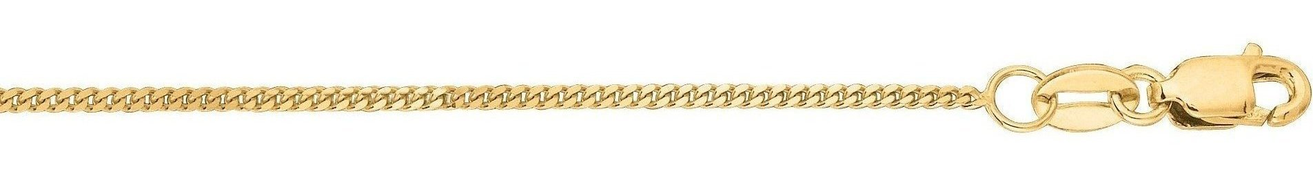 "16"" 10K Yellow Gold 1.0mm (0.04"") Polished Diamond Cut Gourmette Chain w/ Lobster Clasp"