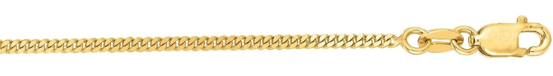 "16"" 10K Yellow Gold 1.50mm (0.06"") Polished Diamond Cut Gourmette Chain w/ Lobster Clasp"