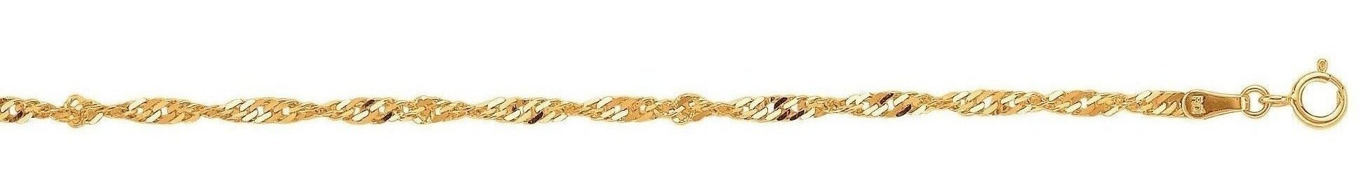 "22"" 10K Yellow Gold 2.2mm (0.09"") Polished Diamond Cut Sparkle Chain w/ Spring Ring Clasp"