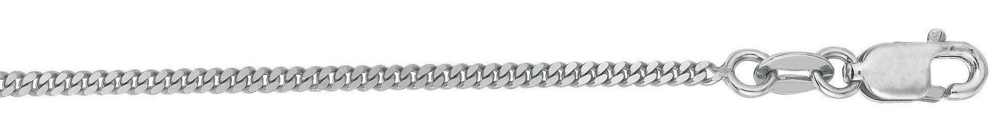 "16"" 10K White Gold 1.50mm (0.06"") Polished Diamond Cut Gourmette Chain w/ Lobster Clasp"