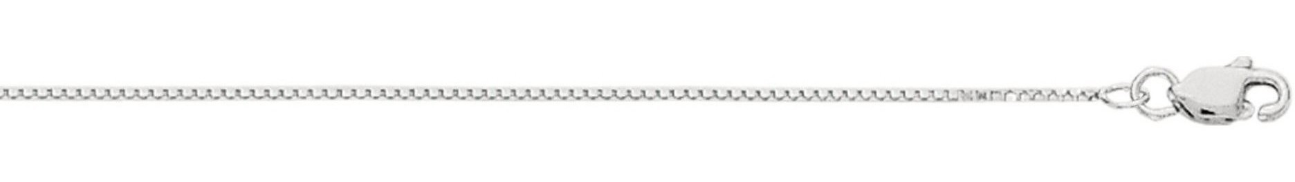 "30"" 10K White Gold 0.8mm (0.03"") Polished Box Chain w/ Lobster Clasp"