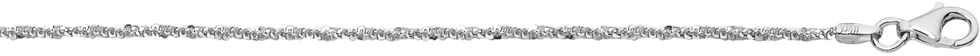 "20"" 1.5mm (0.06"") Diamond Cut 925 Sterling Silver Sparkle Chain w/ Pear Shape Clasp - DISCONTINUED"