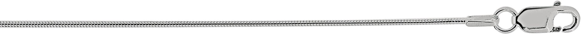 "24"" 1.1mm (0.04"") Polished Diamond Cut 925 Sterling Silver Snake Chain w/ Lobster Clasp"