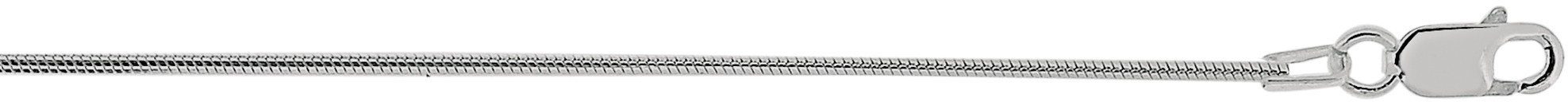 "24"" 1.2mm (0.05"") Polished Diamond Cut 925 Sterling Silver Snake Chain w/ Lobster Clasp"