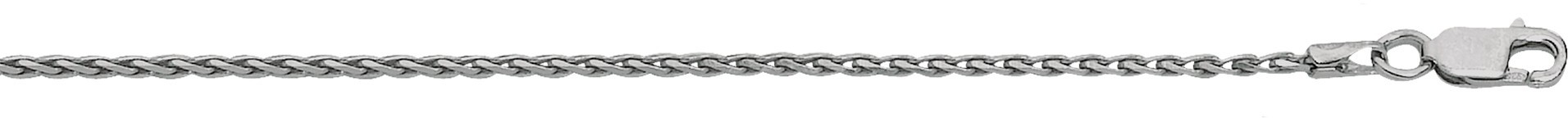 "18"" 1.4mm (0.06"") Polished Diamond Cut 925 Sterling Silver Spiga Chain w/ Lobster Clasp"