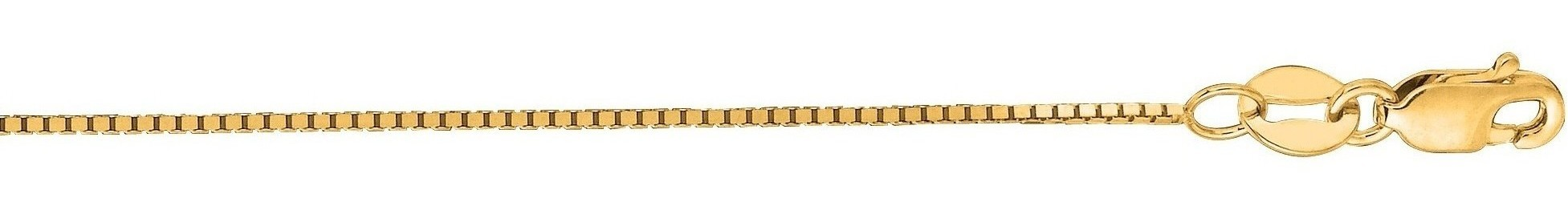 "20"" 14K Yellow Gold 0.7mm (0.03"") Polished Classic Box Chain w/ Lobster Clasp"