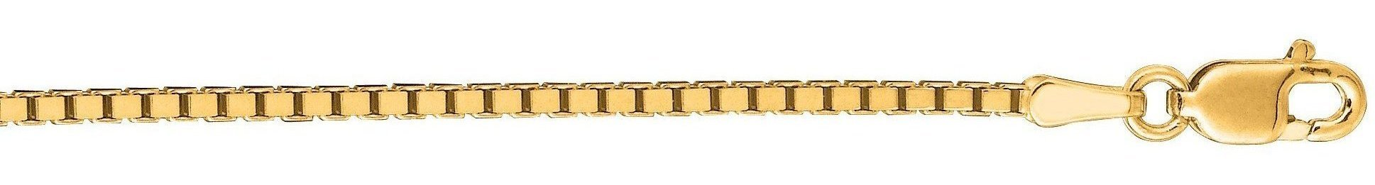"22"" 14K Yellow Gold 1.4mm (0.06"") Polished Classic Box Chain w/ Lobster Clasp"