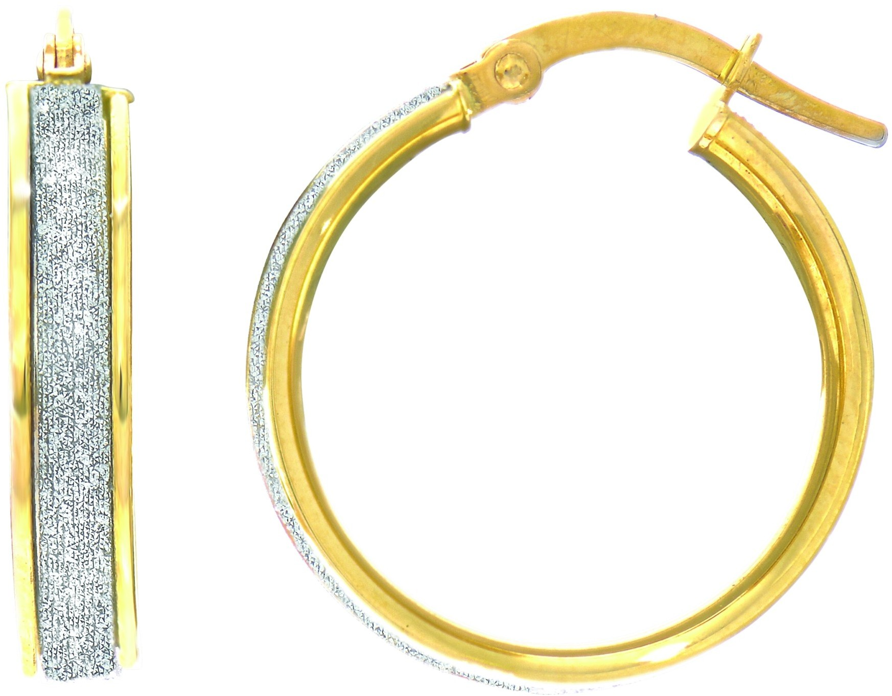 "14K Yellow Gold 3.75x16mm (0.15""x0.63"") Shiny Round Hoop Earrings"