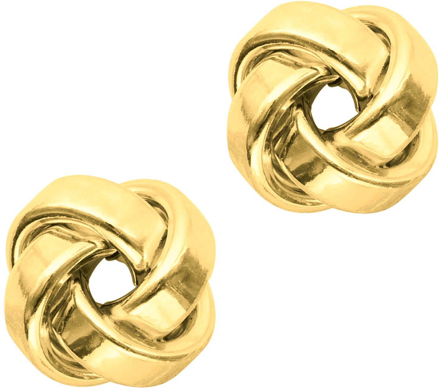 14K Yellow Gold Polished Love Knot Earrings