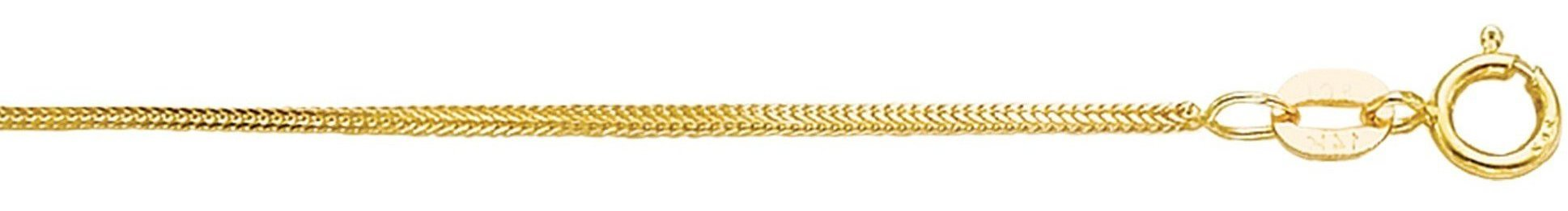 "16"" 14K Yellow Gold 0.9mm (0.04"") Polished Diamond Cut Foxtail Chain w/ Spring Ring Clasp"
