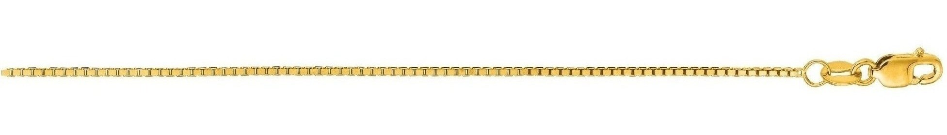 "24"" 14K Yellow Gold 1.0mm (0.04"") Polished Octagonal Box Chain w/ Lobster Clasp"