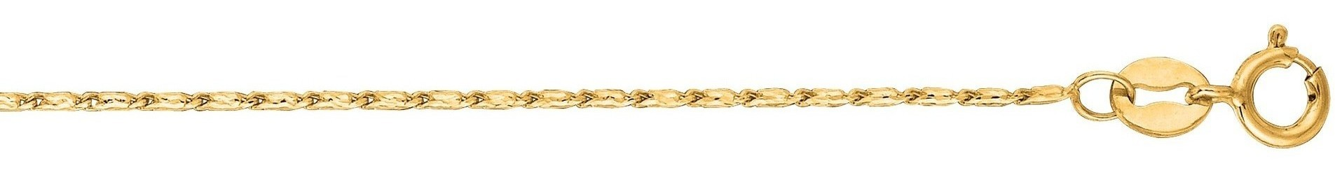 "16"" 14K Yellow Gold 0.8mm (0.03"") Polished Diamond Cut Lumina Pendant Chain w/ Spring Ring Clasp"