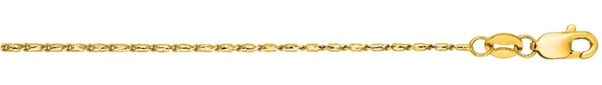 "20"" 14K Yellow Gold 0.9mm (0.04"") Polished Diamond Cut Lumina Pendant Chain w/ Lobster Clasp"