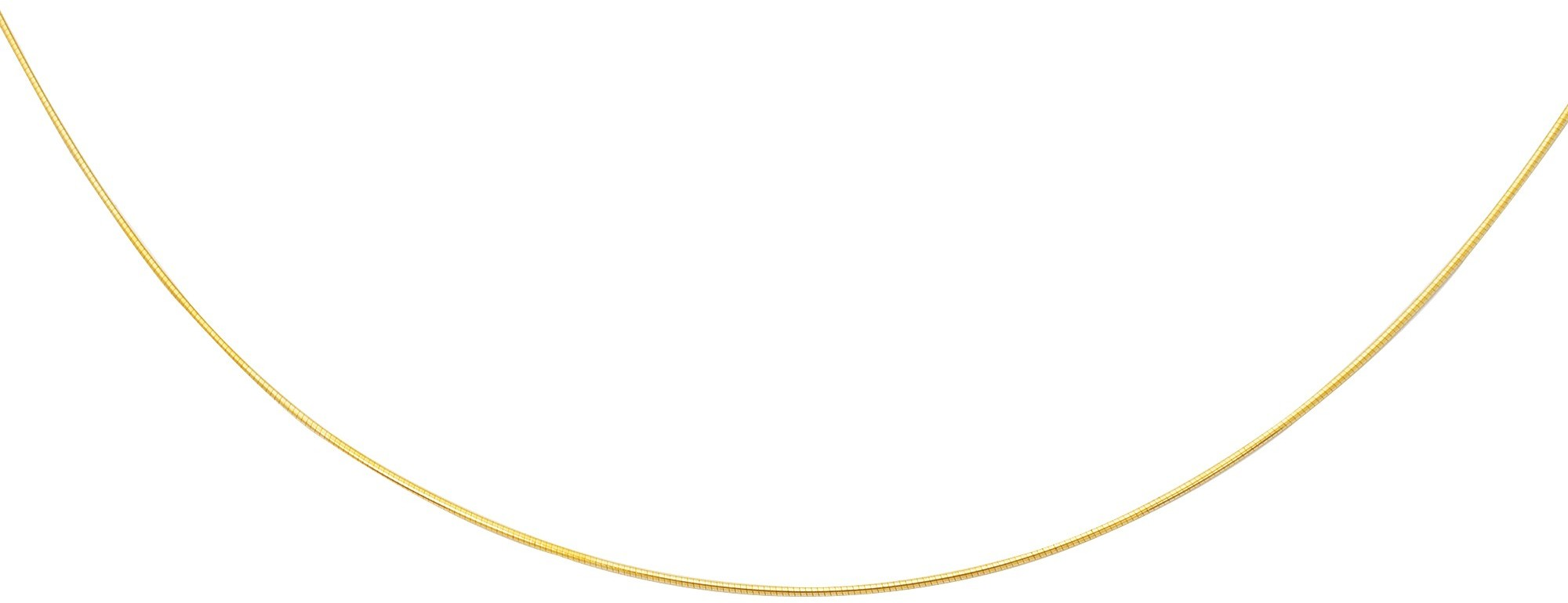 "16"" 14K Yellow Gold 1.0mm (0.04"") Polish Diamond Cut Round Omega Necklace w/ Screw Off Lock & Pear Shape Clasp"