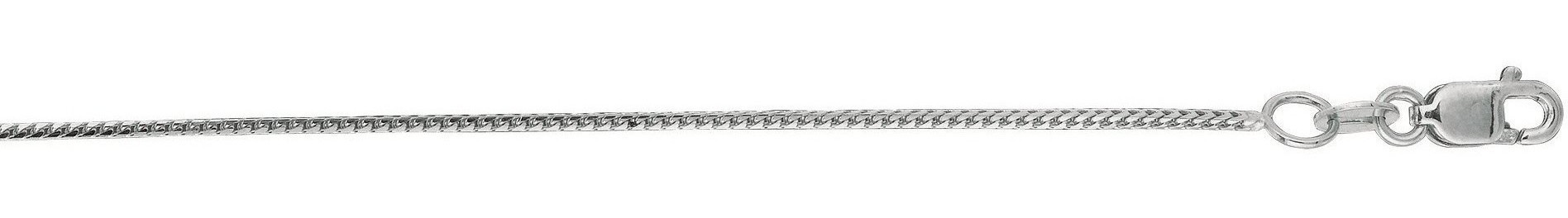 "16"" 14K White Gold 0.9mm (0.04"") Diamond Cut Franco Chain w/ Lobster Clasp"