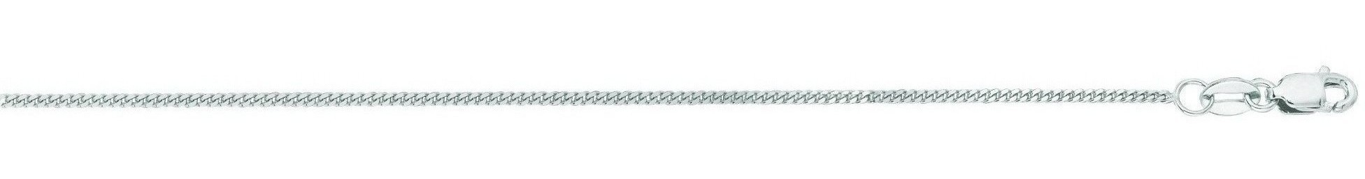 "20"" 14K White Gold 1.0mm (0.04"") Polished Diamond Cut Gourmette Chain w/ Lobster Clasp"