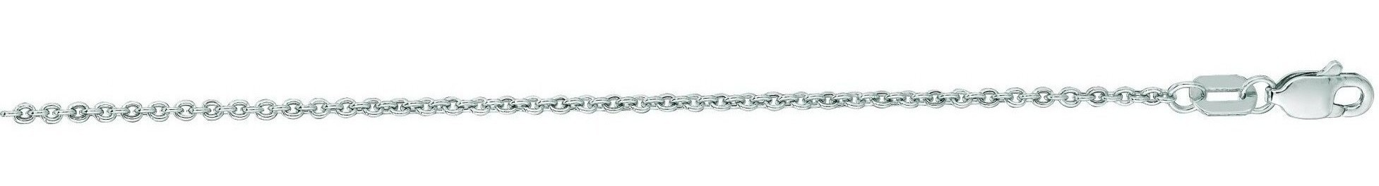 "20"" 14K White Gold 1.5mm (0.06"") Diamond Cut Forsantina Chain w/ Lobster Clasp"