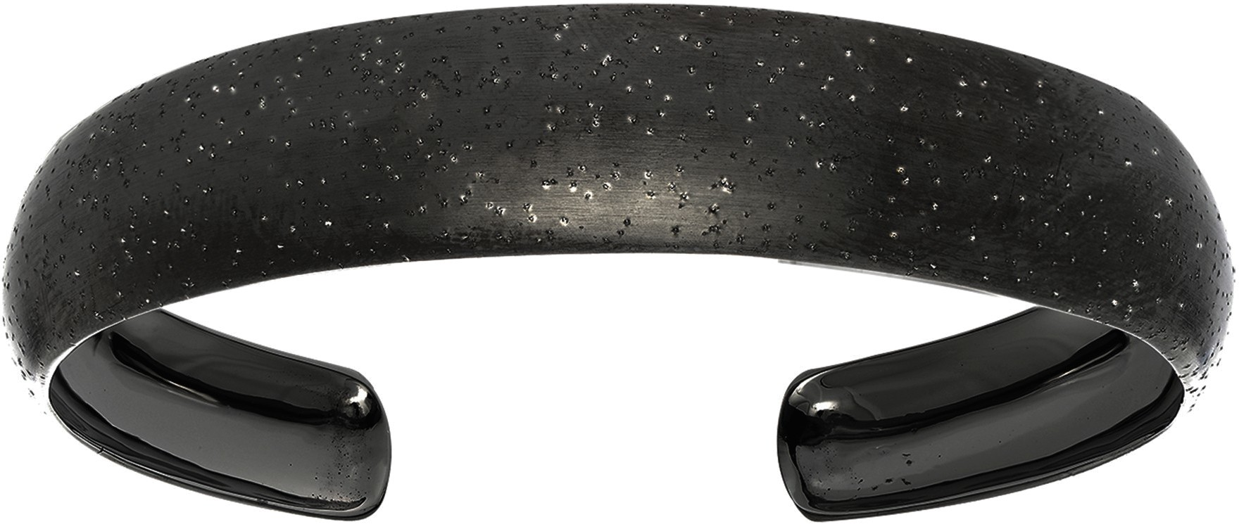 Silver Black Rhodium Plated Stardust Cuff Bracelet - DISCONTINUED