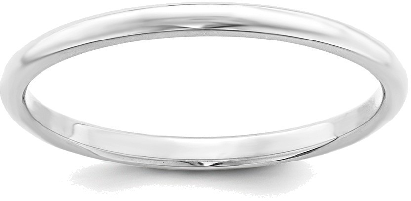 Sterling Silver 2mm Half Round.5 Band Ring