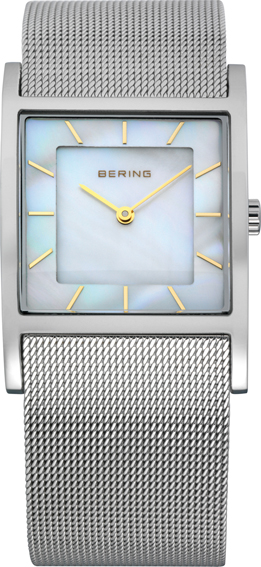 Bering Time - Classic - Ladies Silver & Gold Mesh Watch with Mother of Pearl Dial 10426-010 (Womens)