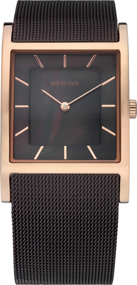 Bering Time - Classic - Ladies Brown Mesh Watch with Mother of Pearl Dial 10426-265 (Women's)