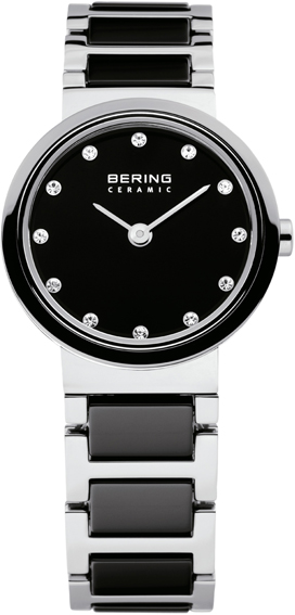 Bering Time - Ladies Black Ceramic Link Watch 10725-742 (Women's)