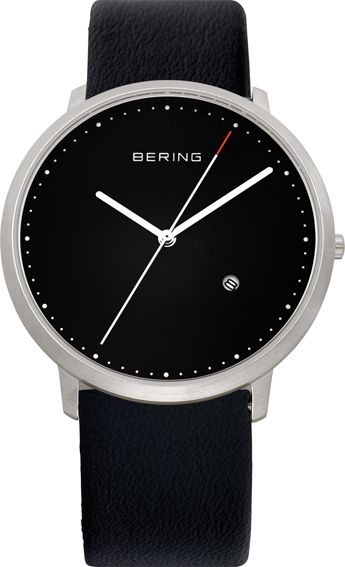 Bering Time - Classic - Men's Black Leather Watch 11139-402