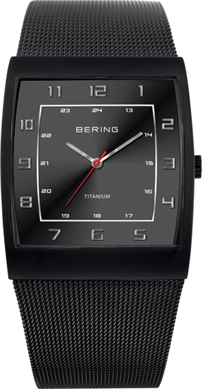 Bering Time - Classic - Men's Black Titanium Mesh Watch 11233-222