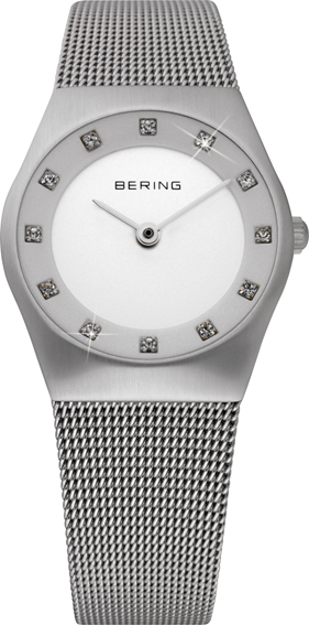 Bering Time - Classic - Ladies Silver Mesh Watch 11927-000 (Women's)