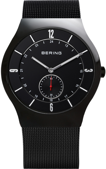 Bering Time - Classic - Mens Black Mesh Watch with Black Dial 11940-222