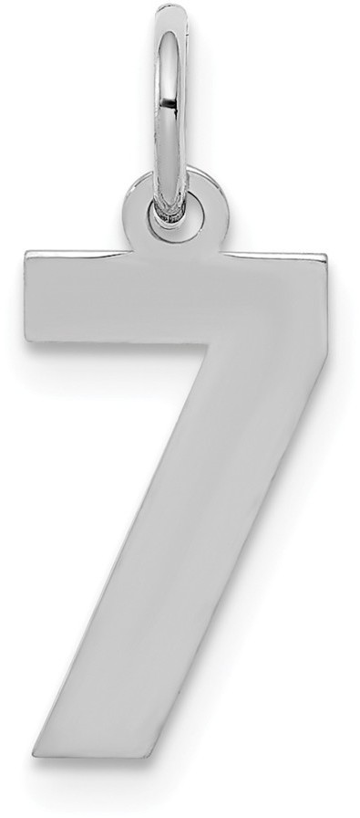Sterling Silver Small Polished Number 7 Charm