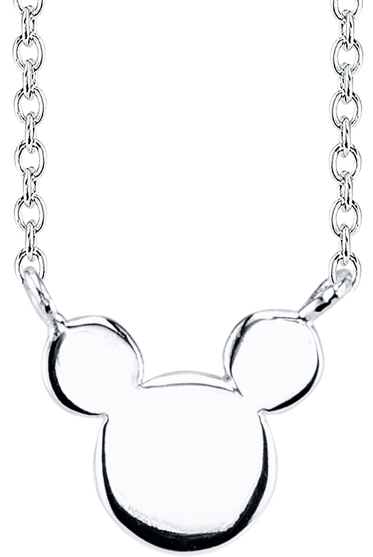 "18"" Disney Sterling Silver Mickey Mouse Cable Chain Necklace"