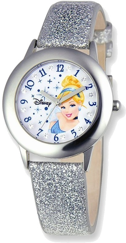 Disney Princess Cinderella Glitz Silver Band Tween Watch