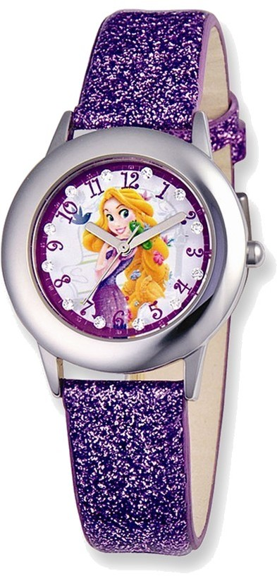 Disney Princess Rapunzel Glitz Purple Band Tween Watch