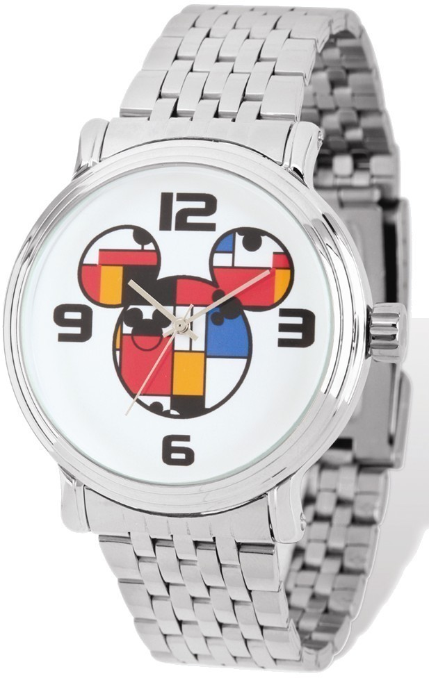 Disney Adult Size Colorblock Mickey Silver-tone Watch
