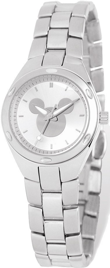 Ladies Disney Silver Dial Mickey Mouse Silhouette Watch