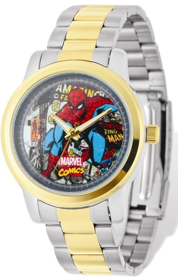 Marvel Adult Size Two-tone Spiderman Watch