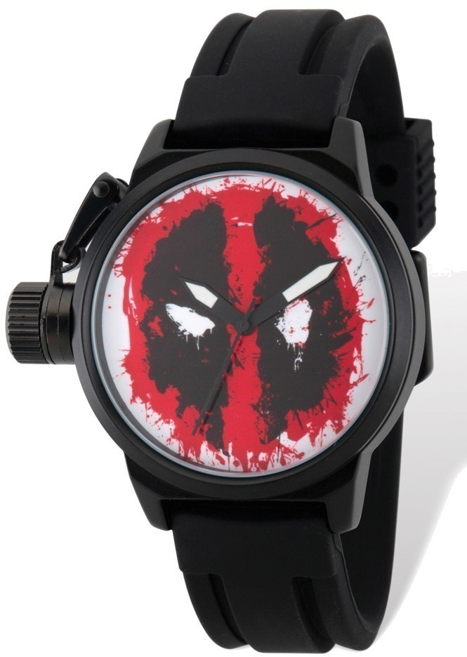 Marvel Adult Size Deadpool Left Hand Black Band Watch