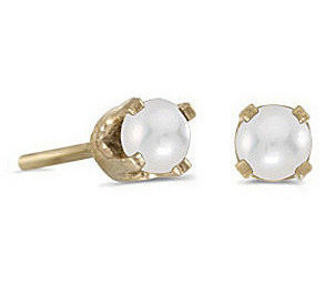 14k Yellow Gold Pearl Stud Earrings (CM-E1420X-06)