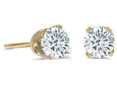 14K Yellow Gold 0.20 ctw Diamond Stud Earrings