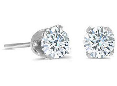 14k White Gold 0.20 ctw Diamond Stud Earrings