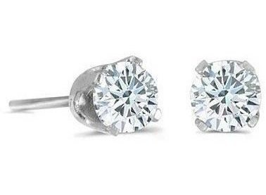 14k White Gold 0.25 ctw Diamond Stud Earrings