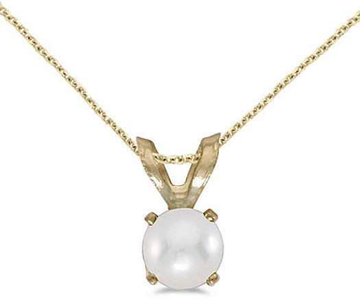 14k Yellow Gold Pearl Pendant (Chain NOT included) (CM-P1414X-06)
