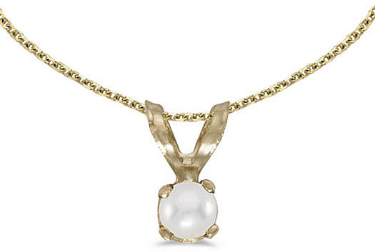 14k Yellow Gold Pearl Pendant (Chain NOT included) (CM-P1418X-06)