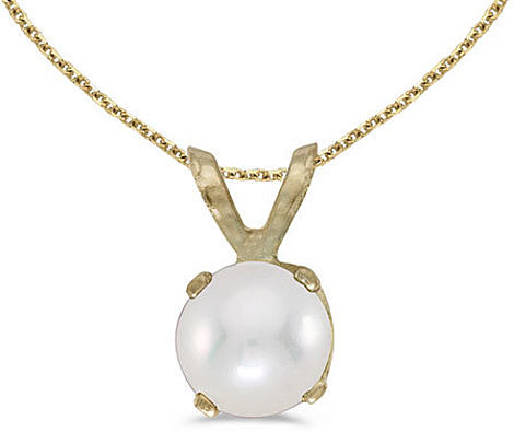 14k Yellow Gold Pearl Pendant (Chain NOT included)
