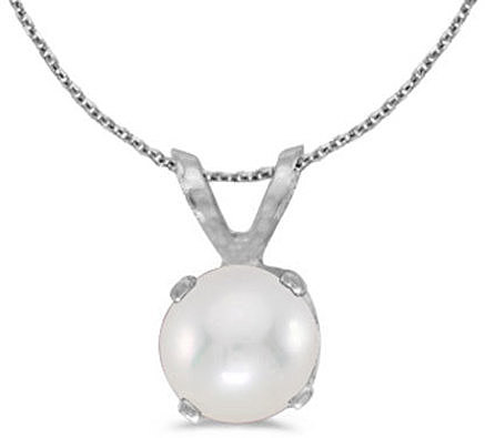 14k White Gold Pearl Pendant (Chain NOT included)