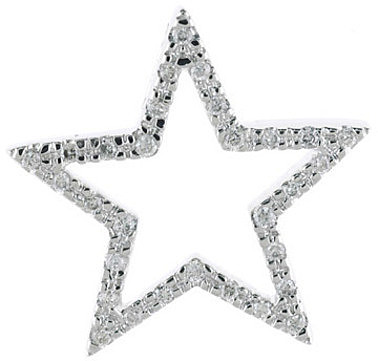 14K White Gold Diamond Star Pendant (Chain NOT included)